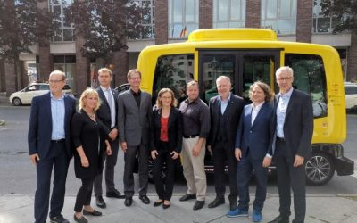 Autonomous Bus in the streets of Berlin
